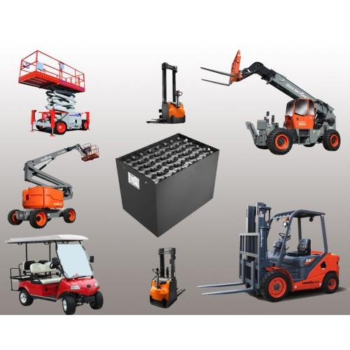 Servis a údržba trakční baterie.