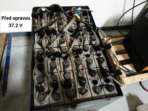 údržba trakční baterie