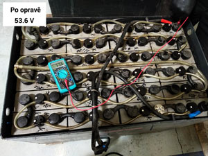 Oprava trakční baterie